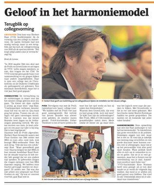 2018-4-7 Amstelveens Nieuwsblad, terugblik formatie Amstelveen Herbert Raat over vertrouwen rol BBA en hun nieuwe kadidaat Ruud Kootker