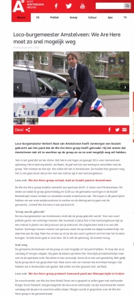 2018-5-6 AT5 interview met loco-burgemeester Herbert Raat over we are here in Amstelveen