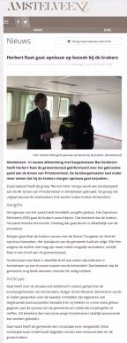 2018-12-6 Amstelveenz over bezoek Herbert Raat aan krakers We are Here