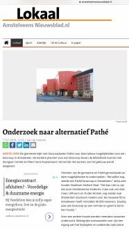 2018-17-7 Amstelveens Nieuwsblad site; Herbert Raat over Pathe in Amstelveen