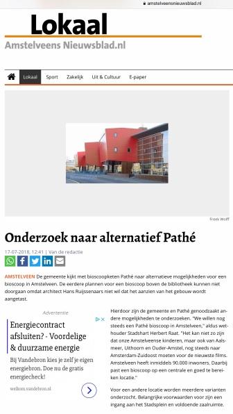 2018-17-7 Amstelveens Nieuwsblad site over Pathe in Amstelveen