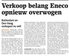 2018-4-7 Amstelveens Nieuwsblad interview Herbert Raat over vervolg Eneco