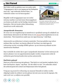 2018-17-7 Het Parool Herman Stil over bioscoop Pathe Amstelveen 2 van 2