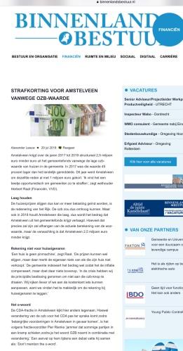 108-29-7 Binnenlands Bestuur: wethouder Herbert Raat over OZB Amstelveen