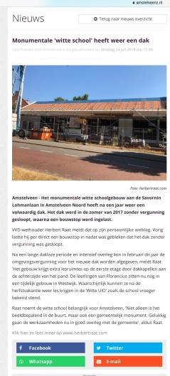 2018-24-7 Amstelveenz over nieuw Dak Witte school Amstelveen