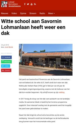 2018-24-7 RTVA over nieuw Dak Witte school Amstelveen
