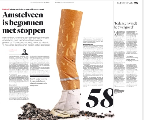 2019-17-11; Het Parool; herbert Raat over aanpak roken in Amstelveen
