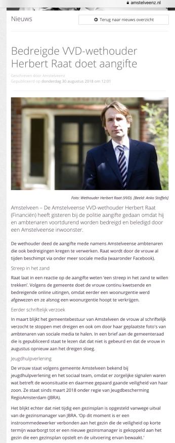 2018- 30-8 AmstelveenZ over aangifte Herbert Raat