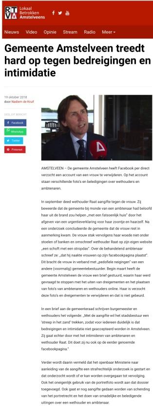 2018-RTVA over optreden tegen bedreigingen tegen ambtenaren en Herbert Raat
