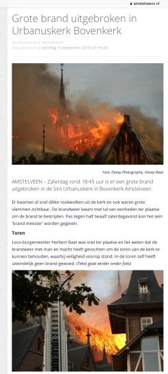 15-9-2018 Amstelveenz: Herbert Raat over brand Urbanuskerk 1 van 2