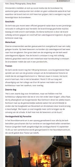 15-9-2018 Amstelveenz over brand Urbanuskerk 2 van 2