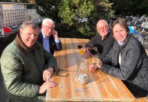 2018- Hans Bulsing, Piet van den Heuvel, Onne Leegstra en Herbert Raat voor de Annakerk Amstelveen