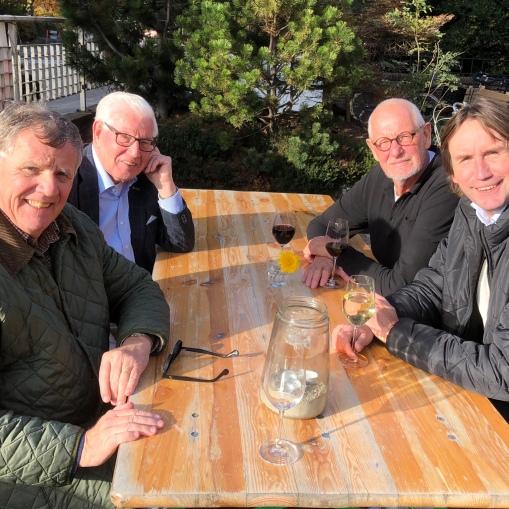 2018- Hans Bulsing, Piet van den Heuvel, Anna Leegstra en Herbert Raat voor de Annakerk Amstelveen