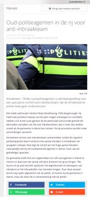2018-19-11 AmstelveenZ: Herbert Raat veel reacties van oud-politieagente