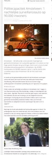 2018-13-11 AmstelveenZ over aanpak inbraken