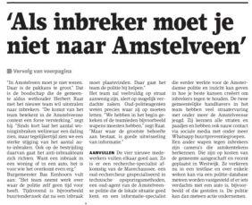 2019-17-4 Het Amstelveens Nieuwsblad wethouder Herbert Raat en burgemeester Bas Eenhoorn over inbrakenteam 2 van 2