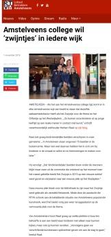 2018-1-11 RTVAmstelveen: Herbert Raat over Kindvriendelijke beelden Amstelveen