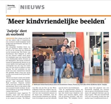 2018-7-11 Amstelveens Nieuwsblad: Herbert Raat over Kindvriendelijke beelden Amstelveen