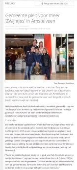 2018-1-11 AmstelveensZ: Herbert Raat over Kindvriendelijke beelden Amstelveen