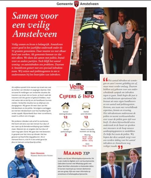 2019-mei: Herbert Raat en Tjapko Poppens themapagina over inbraken Amstelveen