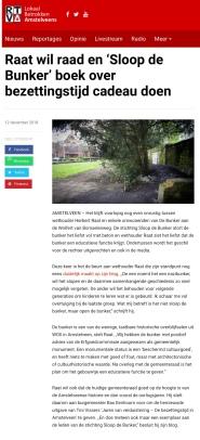 2018-12-12 RTVA: Herbert Raat over de bunker in Amstelveen