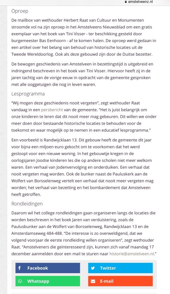 2018-14-4 Amstelveenz over rondleidingen langs locaties bezettingstijd 2 van 2