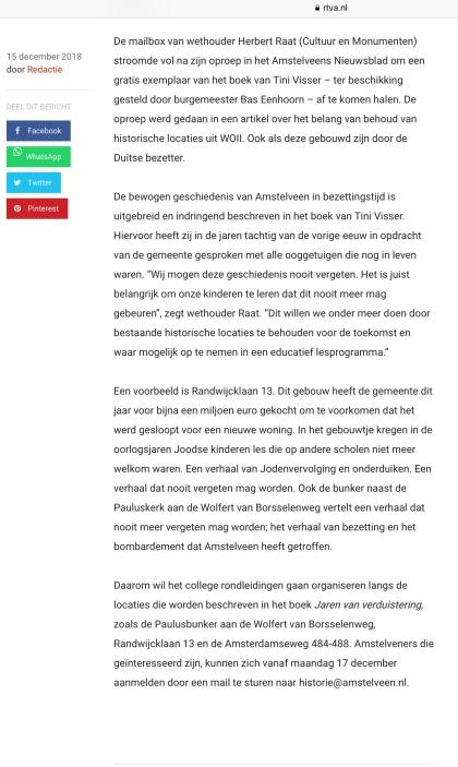 2018-14-4 RTVA: wethouder Herbert Raat over rondleidingen langs locaties bezettingstijd 1 van 2