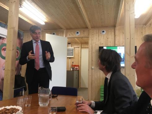 2018-Wethouders Adriaan Visser, Herbert Raat en Rob Ellermeijer in Rotterdam