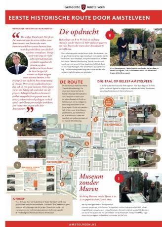 2020-4-11 Amstelveens Nieuwsblad: Herbert Raat, Tjapko Poppens, Sandra van Engelen en Daniel Metz presentatie historische routes Amstelveen