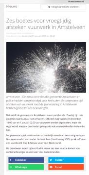2019-2-1 AmstelveenZ: wethouder: Herbert Raat over rustige jaarwisseling Amstelveen