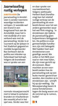 2018-8-1 Amstelveens Nieuwsblad: wethouder Herbert Raat over oud en nieuw Amstelveen