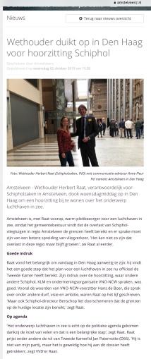 2019-2-10; Amstelveenz; Herbert Raat en Anne Fleur Pel in Den Haag bij hoorzitting