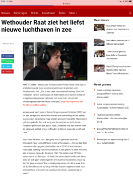 2019-7-2 RTVA; wethouder Herbert Raat over luchthaven in zee