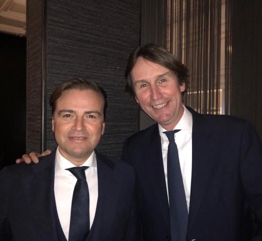 2019-Malik Azmani en Herbert Raat, ondernemersdiner VVD Amstelveen