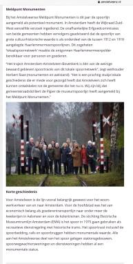 2019-31-12; AmstelveenZ: Herbert Raat over monumentale voordracht historische Museumtramlijn Amstelveen 2 van 2