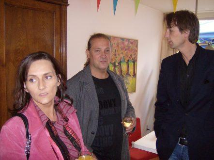 2007- Frans Stuy en vrouw en Herbert Raat in Amstelveen