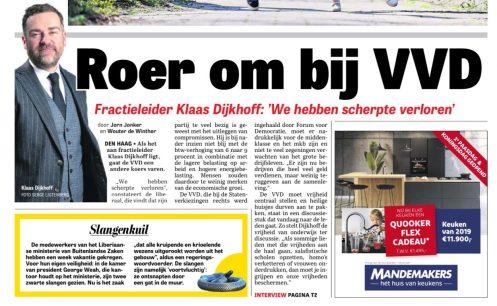 2019-20-4: De Telegraaf: Klaas Dijkhof roer gaat om bij de VVD