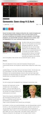 2019-1-5 Amstelveenblog.nl; Herbert Raat over de heilige geestkerk Amstelveen