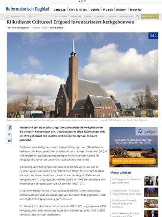 2019-25-4 Reformatorisch Dagblad: invulling Annakerk Herbert Raat Erwin van der Laan. 1 van 2