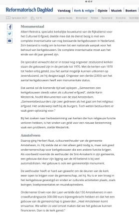 2019-25-4 Reformatorisch Dagblad: invulling Annakerk Herbert Raat Erwin van der Laan. 2 van 2