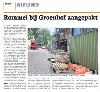 2019-8-5:Amstelveens Nieuwsblad; Herbert Raat over aanpak rommel Groenhof