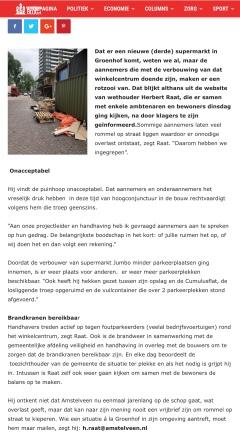 2019-14-5; RTVA; Herbert Raat over handhaving en aanpak bouwoverlast Groenhof
