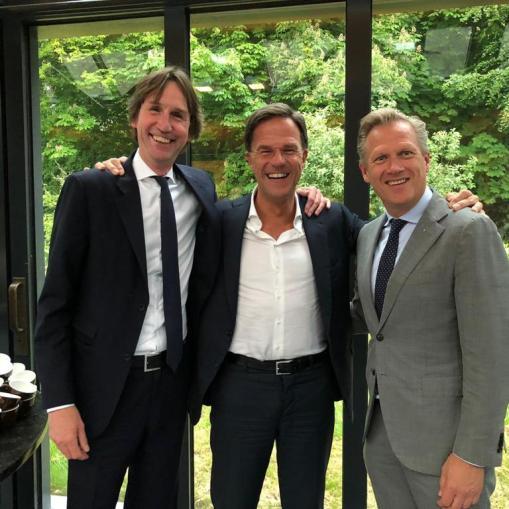 2019-20-5 Herbert Raat, Mark Rutte en Kees Noomen VVD
