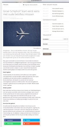 2019-9-7: Amstelveenz: Herbert Raat over plannen minister Cora van Nieuwenhuizen Schiphol