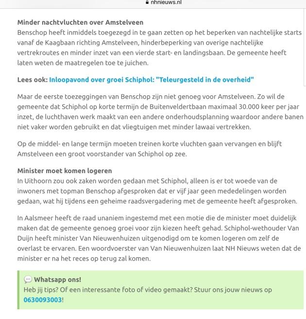 2019-24-7: RTVNH; Herbert Raat en Floor Gordon over afspraken Amstelveen Schiphol. 2 van 2