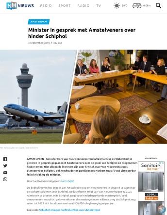 2019-4-9; NHnieuws; Herbert Raat, Floor Gordon, Tjapko Poppens en Cora van Nieuwenhuizen gesprek Schiphol