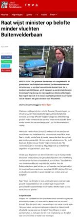 2019-9-7 RTVA: Herbert Raat over plannen minister Cora van Nieuwenhuizen Schiphol