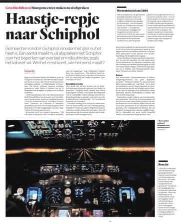 2019-26-7; Het Parool; Herbert Raat over afspraken met Schiphol voor Amstelveen. Journalist is Herman Stil