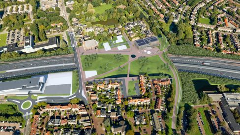 2019-overzicht oude dorp A9 in 2025relplein bomenbrug A9 Amstelveen