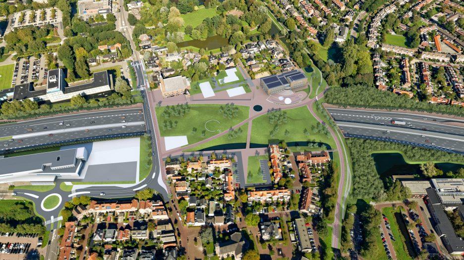 2019-overzicht oude dorp A9 in 2025lplein bomenbrug A9 Amstelveen